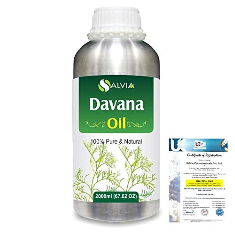 折薄汚い縫い目Davana (Artemisia Pallens) 100% Natural Pure Essential Oil 2000ml/67 fl.oz.