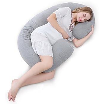 Meiz 抱き枕 妊婦 おすすめ 授乳 クッション 背もたれ マタニティ だきまくら C型 シムス位 腰枕 いびき 横向き寝 枕 洗える 出産祝い