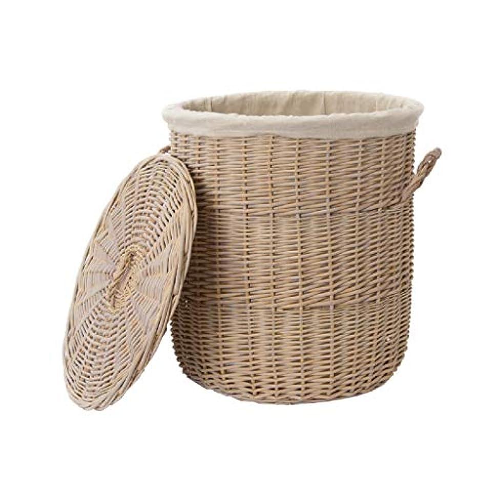 ケーブルカー関連する純粋なQYSZYG ふた収納バスケット付き織物バスケット、柳おもちゃバスケット洗濯バスケット、2サイズ 収納バスケット (サイズ さいず : B)