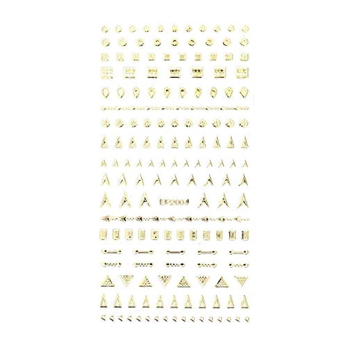 怪しい本当のことを言うとブラインドネイルシール デザインパーツ風シール ゴールド【DP2004】【タイプ4】ネイルアート スクエア レクタングル トライアングル くり抜き フレーム