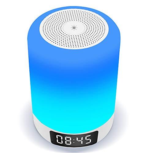 【光+音!ランプ+スピーカー+目覚まし時計!】 Arbily 18ヶ月品質保証,ベッドサイドランプ 常夜灯, ワイヤ...