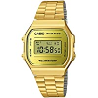 Casio A168WEGM-9 Gold Mirror Face Digital Stainless Steel Unisex Vintage Watch