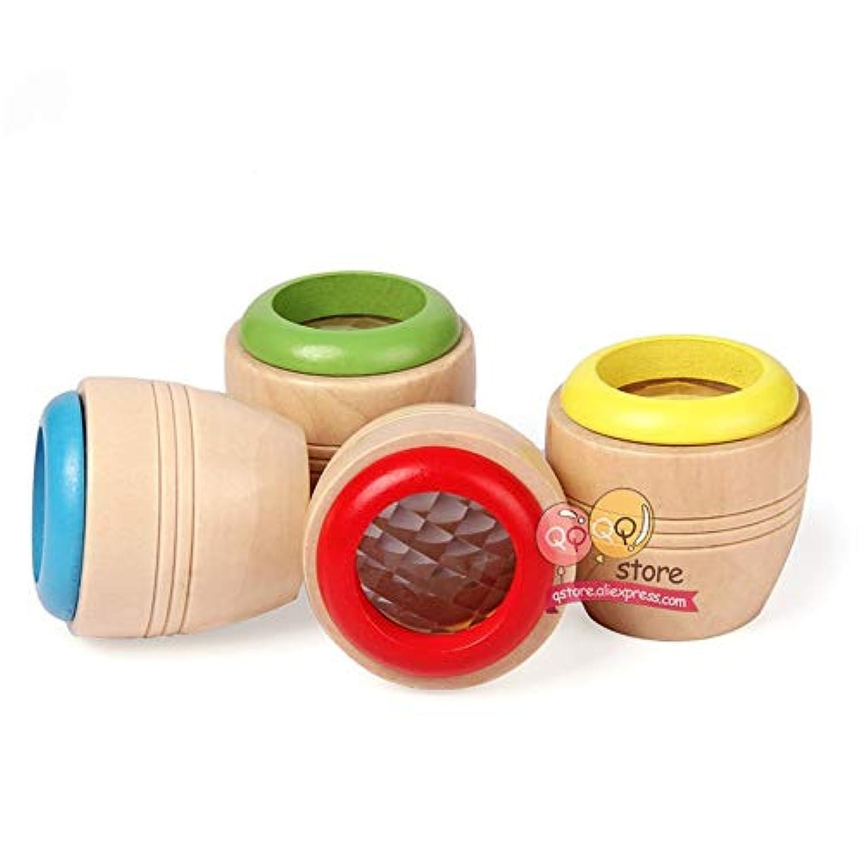 xiaohan マジック木製万華鏡 子供の楽しいおもちゃ 子供へのプレゼント 幼稚園児 プリズム 早期教育 パズル教育
