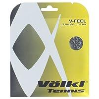Volkl v21788:セットv-feelブラックシルバースパイラル17g Tennis String
