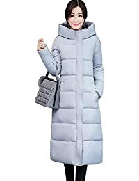WENHAI冬 ダウンジャケット ロング 中綿コートレディース アウター 軽量 防風 防寒 細身トップス シンプル 女性用 通勤通学 アウトドア 暖かい ロング コートエレガント