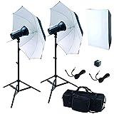 写真撮影用照明 150Wモノブロック ストロボ2灯照明機材セット GB15002