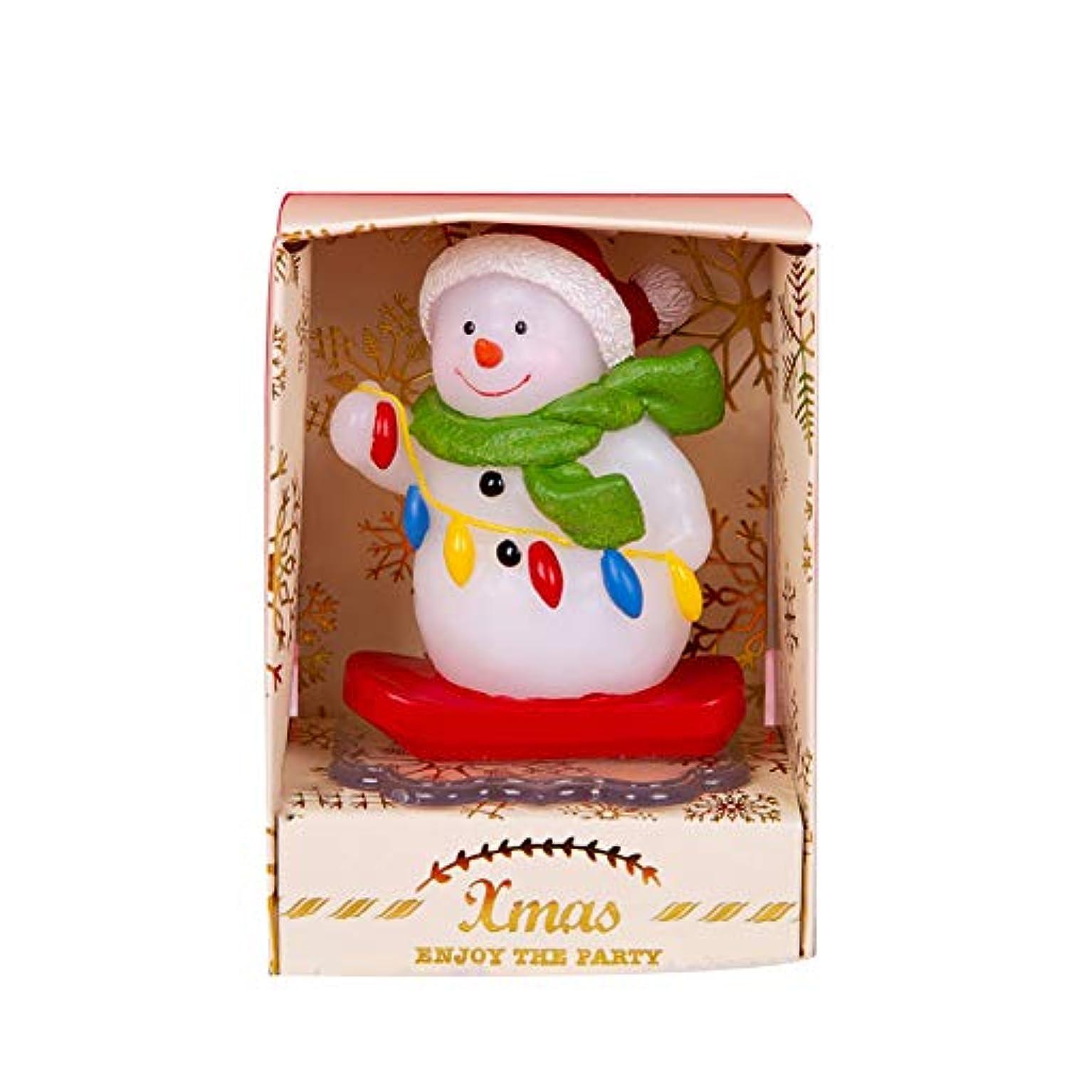 震える暖かく代表団クリスマスキャンドル、装飾サンタクロース/雪だるま/エルクジンジャーブレッドマンキャンドルクリスマスの飾り,M1