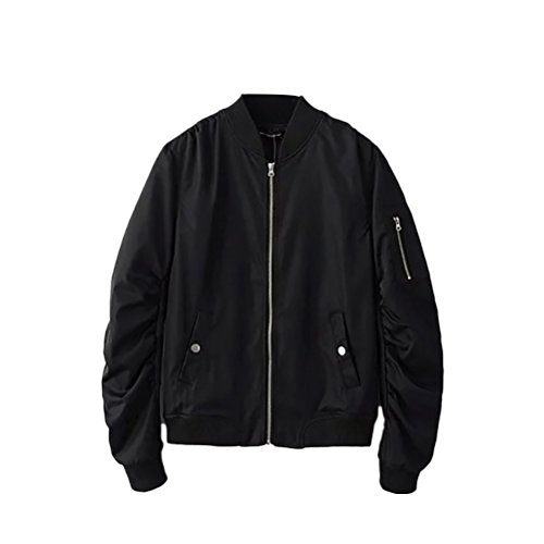 Zhhlinyuan 良品質 Men's Non-Padded Classic Bomber Jacket Work Coat Loose Fit Four-colors