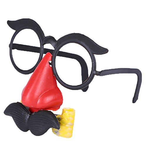 [해외](비굿도) Bigood 어린이 할로윈 장식 재미있는 안경 콧수염 코있는 코스프레 의상 액세서리 크리스마스 학원제 문화 축제 변장 도구/(Bigud) Bigood Children`s Halloween Ornament Funny Glasses Mustache Nose Attack Costume Accessory Christmas...