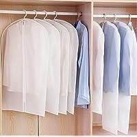 icey 洋服の防塵カバー 厚い 半透明 服の防塵袋 子供服の収納袋 4点セット