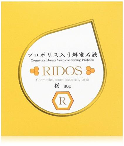 RIDOS(リドス) プロポリス入り蜂蜜石鹸 桜 本体 80g ハチミツの香り 1