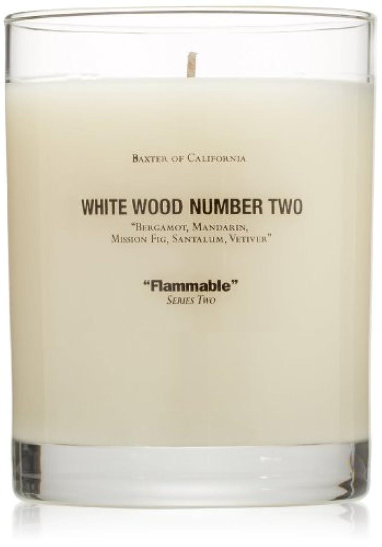 気候備品ベーコンBaxter OF CALIFORNIA(バクスター オブ カリフォルニア) ホワイトウッドキャンドルtwo 255g