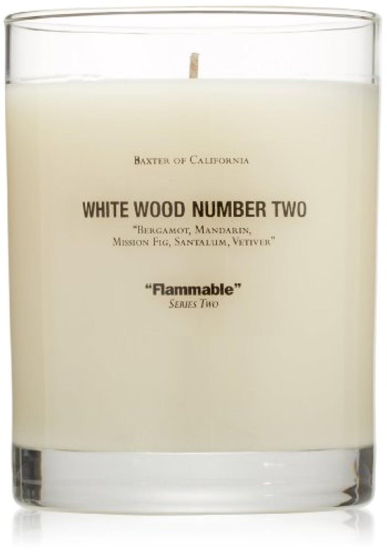 ペルセウスエピソード名声Baxter OF CALIFORNIA(バクスター オブ カリフォルニア) ホワイトウッドキャンドルtwo 255g