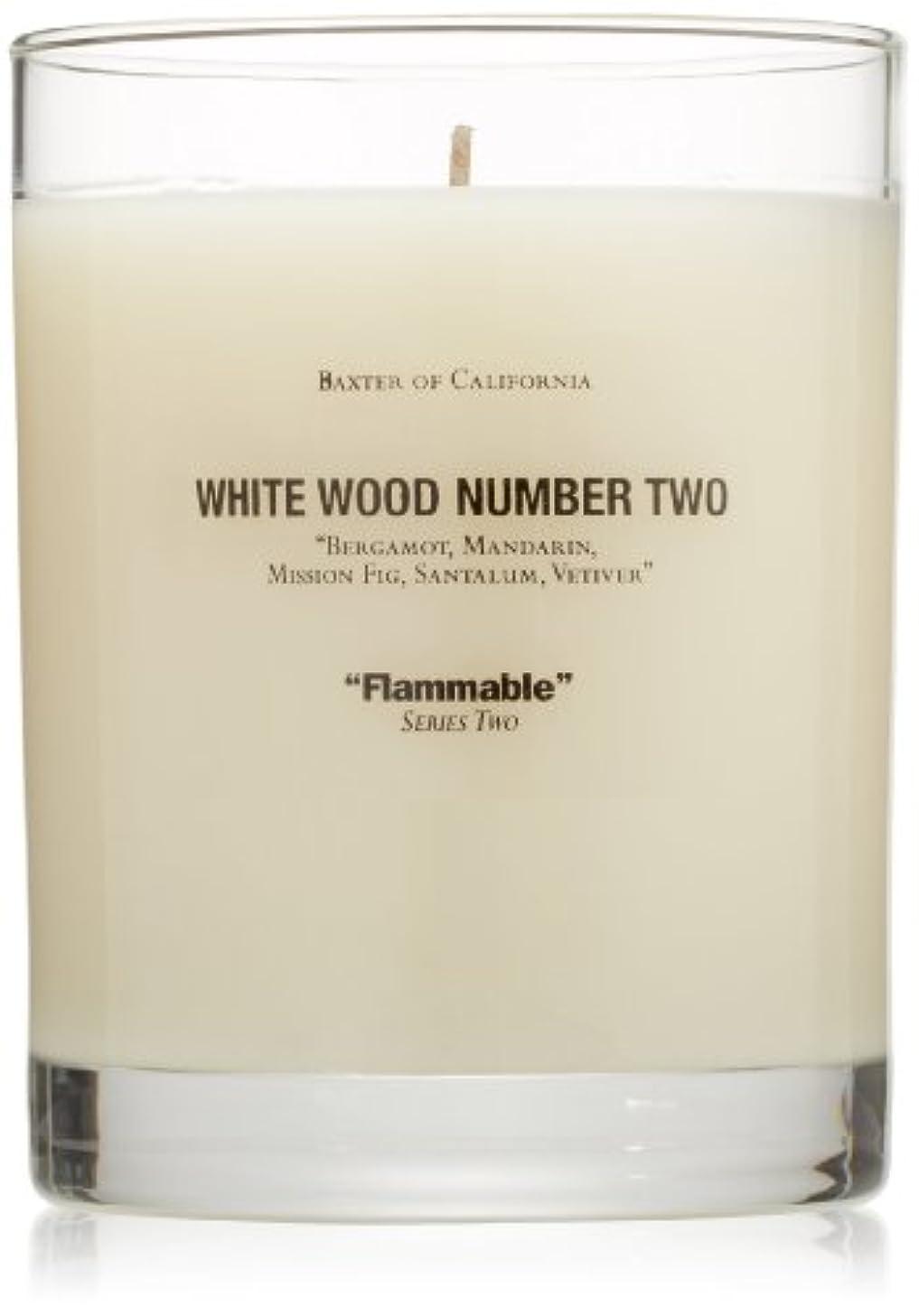 。スペインイタリアのBaxter OF CALIFORNIA(バクスター オブ カリフォルニア) ホワイトウッドキャンドルtwo 255g