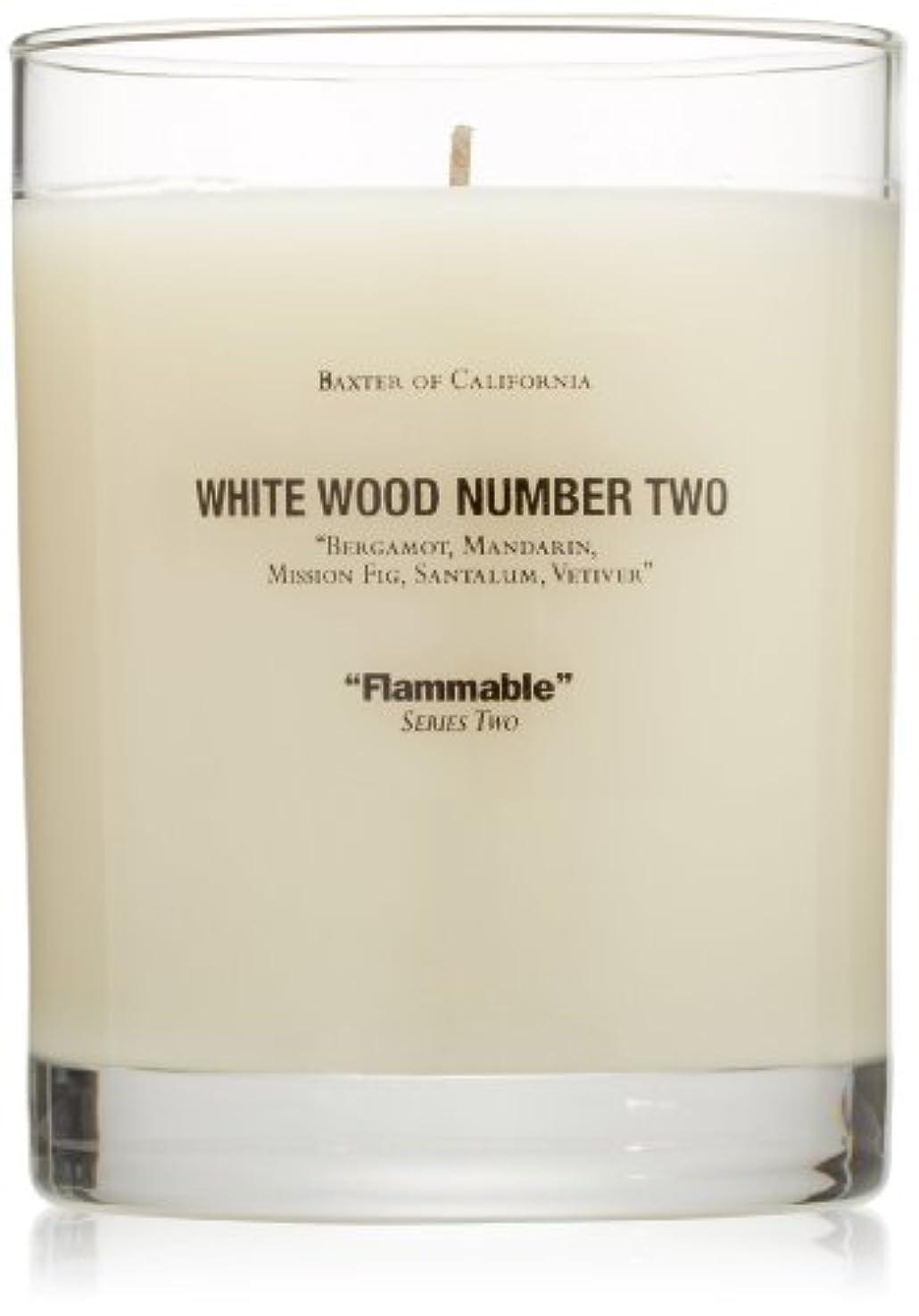 老朽化した退屈させる菊Baxter OF CALIFORNIA(バクスター オブ カリフォルニア) ホワイトウッドキャンドルtwo 255g