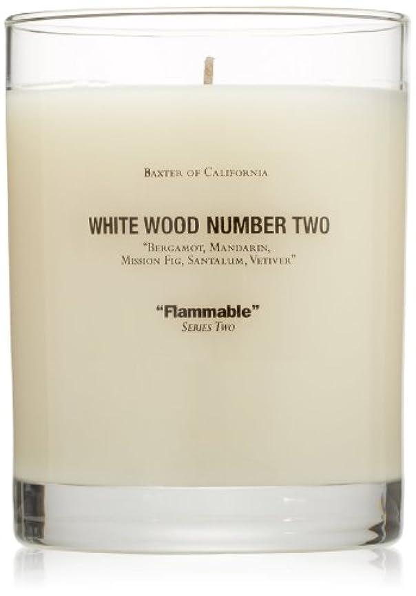 やりすぎミスペンドあそこBaxter OF CALIFORNIA(バクスター オブ カリフォルニア) ホワイトウッドキャンドルtwo 255g