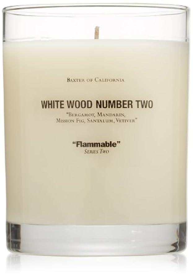 日スリムくまBaxter OF CALIFORNIA(バクスター オブ カリフォルニア) ホワイトウッドキャンドルtwo 255g