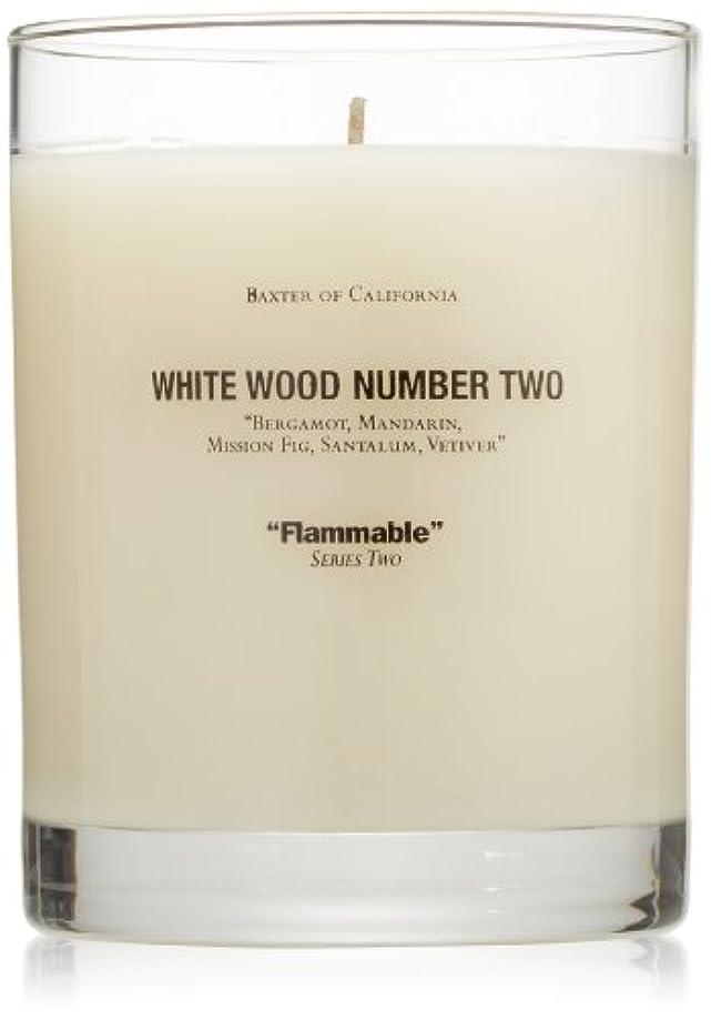 シリング強大なセッティングBaxter OF CALIFORNIA(バクスター オブ カリフォルニア) ホワイトウッドキャンドルtwo 255g