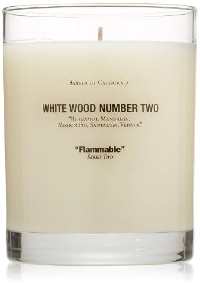 ケーキ苦情文句行方不明Baxter OF CALIFORNIA(バクスター オブ カリフォルニア) ホワイトウッドキャンドルtwo 255g