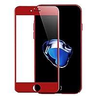 Romantic Angels iPhone 6 / 6S Plus ガラスフィルム保護フィルム 強化ガラス炭素繊維3D曲面 気泡無/ 硬度9H / 指紋防止 (5.5インチ) (レッド)