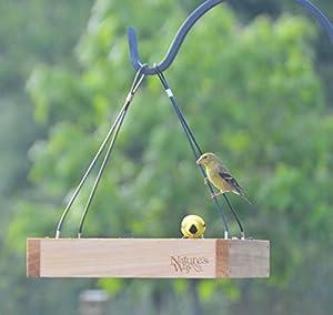 Natures Way Bird Hanging Platform Feeder 12X12X3 In Cedar CWF3