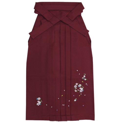 (Kyouetsu)KYOETSU毕业典礼裤裙女绣樱桃花冠玫瑰花束下87厘米-99厘米SakuraFubuki串