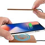Qi ワイヤレス 充電器 [低発熱 薄型 3.2mm 急速充電 最大10W] レザー (本革) TTHEWC001-L