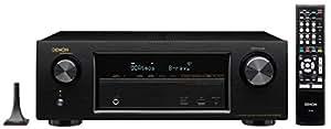 DENON AVサラウンドレシーバー 7.2ch Dolby Atmos DTS:X HDCP2.2 Wi-Fi/Bluetoothワイヤレス/ハイレゾ音源対応 ブラック AVR-X1200WK