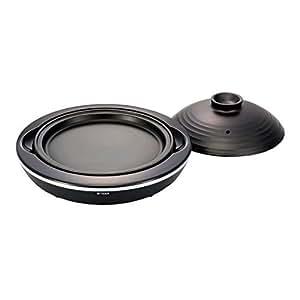 タイガー IH陶板焼き器 ブラック CRX-A100-K