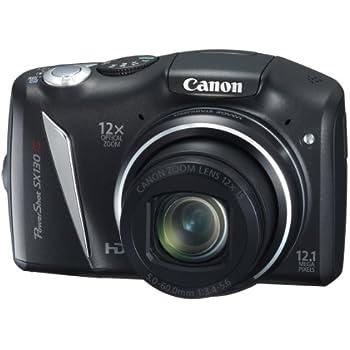 Canon デジタルカメラ Powershot SX130IS ブラック PSSX130IS(BK) 1210万画素 光学12倍 光学28mm 3.0型液晶