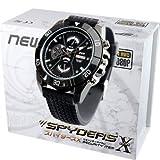 スパイダーズX 腕時計型カメラ 小型カメラ スパイカメラ (W-765) ブラック文字盤 ウレタンバンド