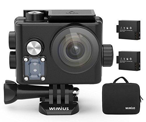 WiMiUS L3 4K アクションカメラ Wifi 16MP 2.45インチ 液晶ディスプレイ タッチスクリーン 防水 スポーツカメラ Sony センサー IMX078 HD ビデオカメラ バッテリー2個 アクセサリーキット20個付属