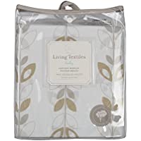 Living Textiles Cotton Poplin Fitted Sheet, Leaves by Living Textiles