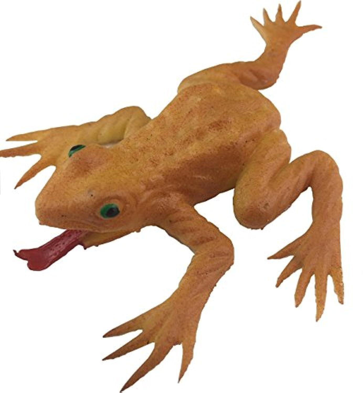 Airself いたずらグッズ ジョークグッズ カエル 蛙 かえる 3匹セット おもちゃ ドッキリ ゴム製 (黄色)