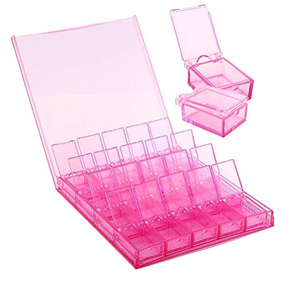 成り立つ一方、大気MOOJOO ネイルパーツケース 小分け クリア ケース ビーズ収納 仕切り 20セクション ピンク