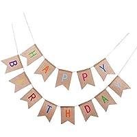 Fenteer ガーランド 誕生日バナー 「Happy Birthday」 お祝い 飾り付け パーティー デコレーション