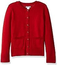Amazon Essentials (アマゾン エッセンシャルズ) ガールズ カーディガン セーター 制服