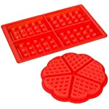 2 Styles Silicone Waffle Moulds Microwave Baking Cookie Cake Maker Pan Pastry Cooking Mold Koalcom
