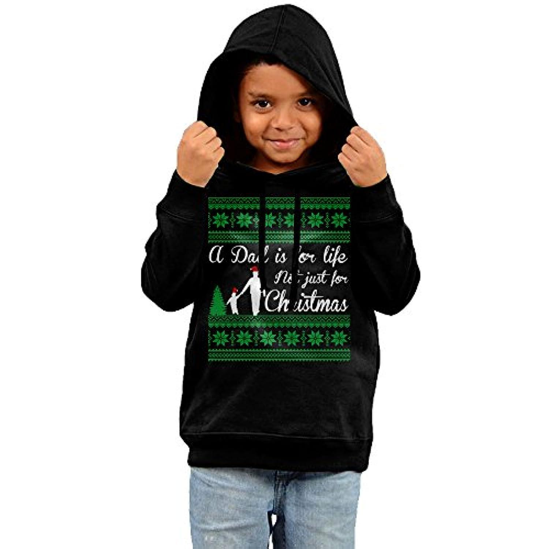 【野村ホーム】クリスマスのおとうさんロゴ キッズ ボーイズ スウェット パーカー フード付きコットン 子供服 女の子 男の子 プルオーバー 長袖 Tシャツ 部屋着 外着 秋 冬 春 ストリート