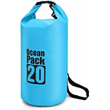 Waterproof Floating Dry Bag, Durable and Lightweight 5L/10L/20L Ocean Pack Sack for Floating, Diving, Camping, Hiking, Rafting, Swimming, Snowboarding and Fishing