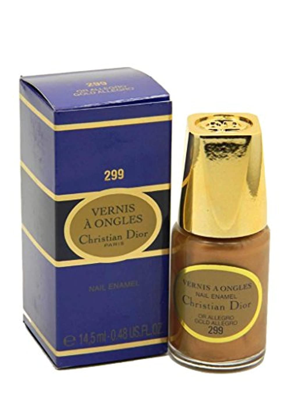 パンチ発送ギャンブルDior Vernis A Ongles Nail Enamel Polish 299 Gold Allegro(ディオール ヴェルニ ア オングル ネイルエナメル ポリッシュ 299 ゴールドアレグロ) [並行輸入品]
