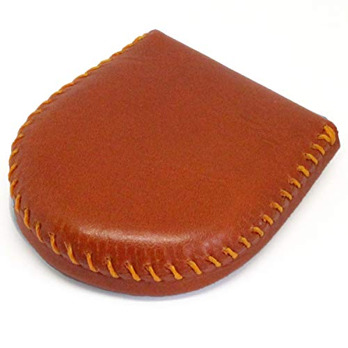(東京下町工房)コインケース メンズ 小銭入れ 本革 手縫い総仕上げ (オレンジ)