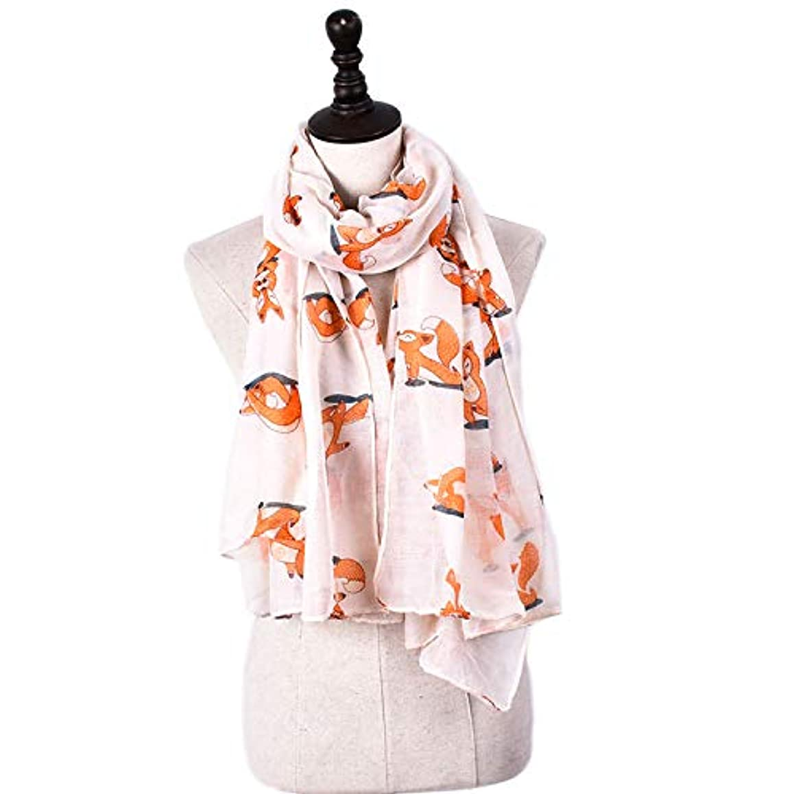 シネウィ熟した植木スカーフ バリニーズ糸 フォックスプリント 可愛い 四季通用 ショール 多機能 防寒 冷房対策 女性向け 6色選択