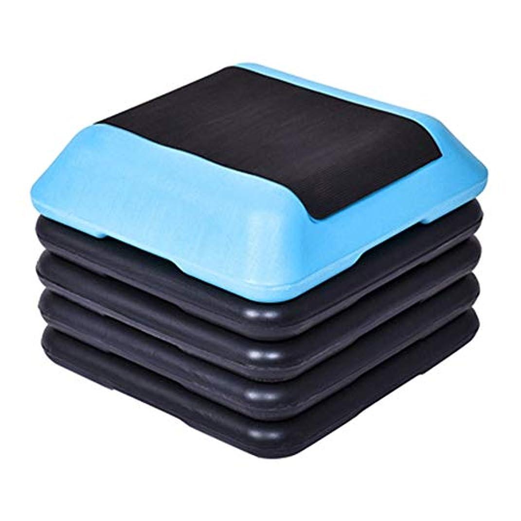 混乱させるクアッガ置くためにパック運動ステップ ステップエアロビクス運動フィットネスペダルホームスポーツ用品ノンスリップ高さ調節のためのプラットフォーム 踏み台昇降運動 (色 : 青, Size : 40x40cm)