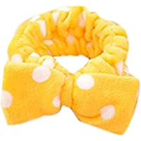 Bullidea polka dot Design make-up Headband/hairband/Alice Band with butterfly Bow for Women Bath And Shower
