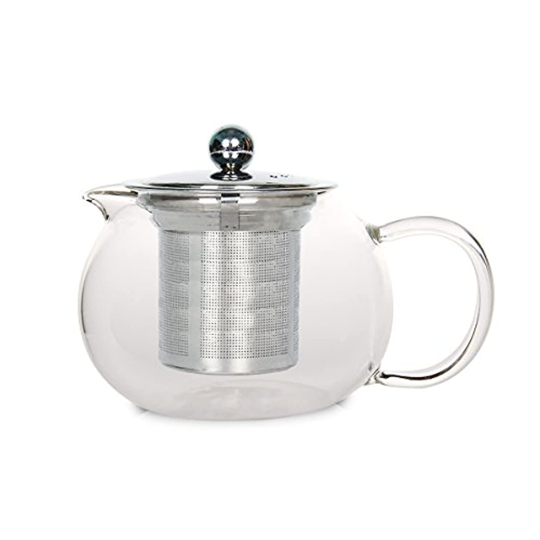 bouti1583 600 mlガラスティーポットwith Stainless Steel Infuser forホームレストランホテルビジネス 600ML 15838290SC0038-02