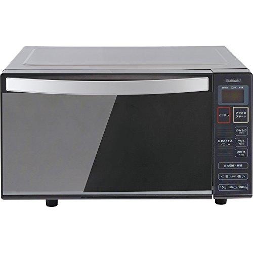 アイリスオーヤマ 電子レンジ 18L フラットテーブル ミラーガラス ブラック IMB-FM18-5