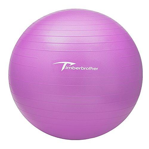 Timberbrother ヨガボール バランスボール エクササイズボール 直径45/55/65/75/85cm 6色 フットポンプ付き (45cm, ラベンダー)