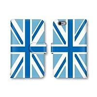 【ノーブランド品】 HTC J butterfly HTV31 スマホケース 手帳型 ユニオンジャック イギリス国旗 スカイブルー かわいい おしゃれ 携帯カバー HTV31 ケース 携帯ケース