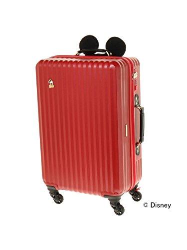 Jewelna Rose (ジュエルナローズ) カレッジ・ミッキー型ハンドルカバー付きスーツケース レッド -